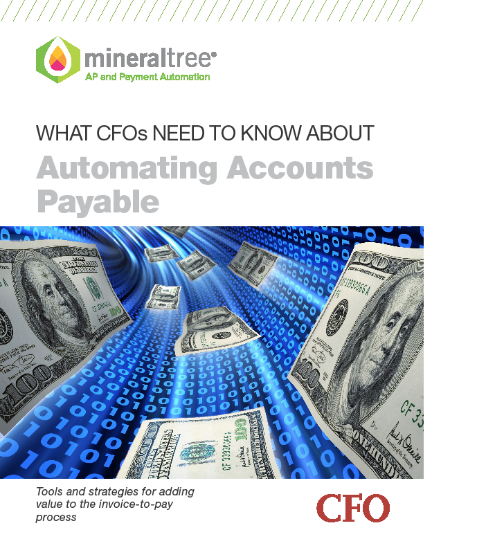 MineralTree CFO Automating Accounts Payable Cover