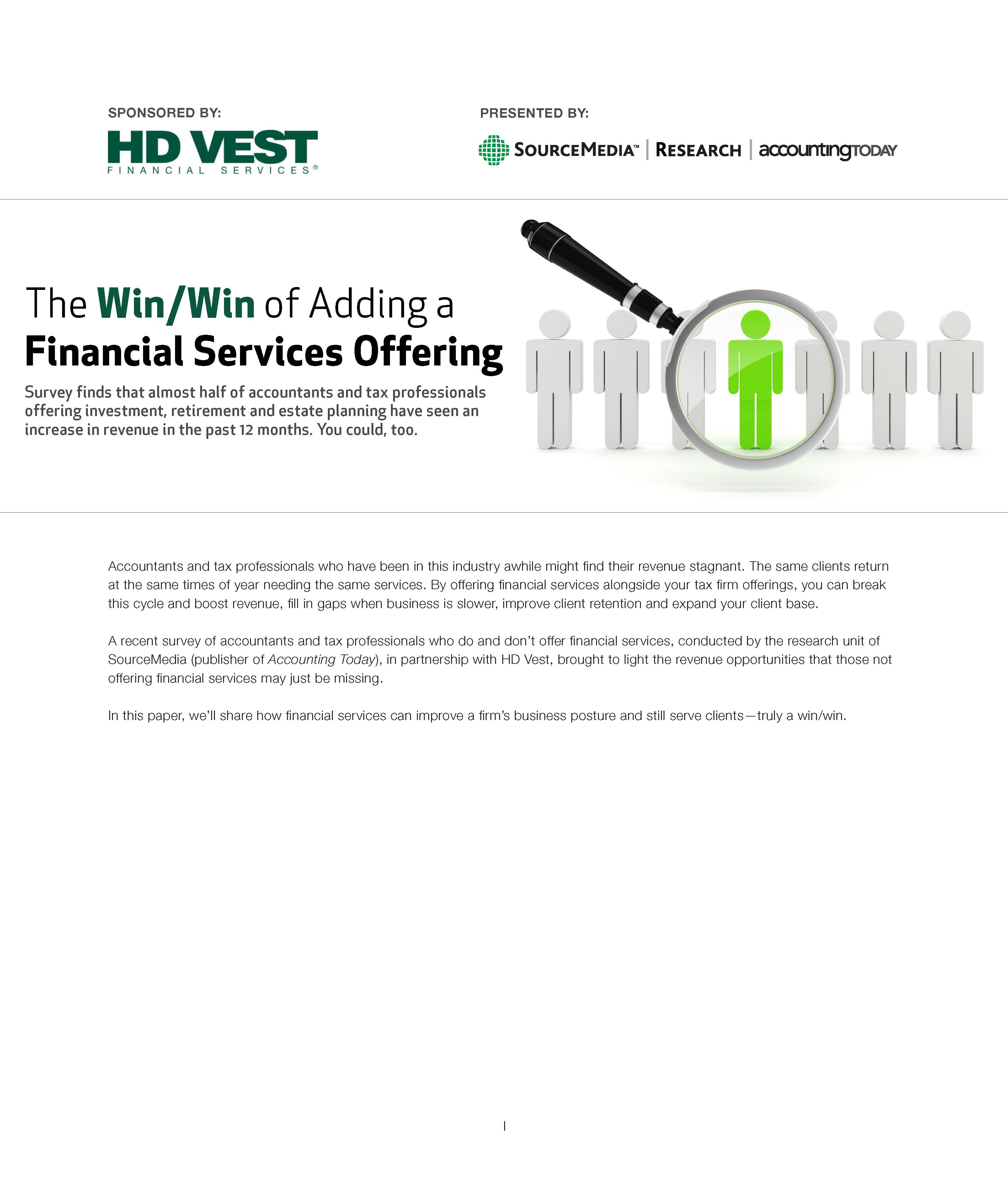 Win Win of Adding a Financial Services Offering Cover